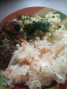 Niedzielny obiad...rybka z ...