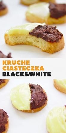 Kruche ciasteczka maślane z czekoladą Black&White. Bardzo łatwe ciasteczk...