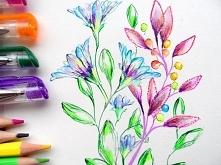 Kwiaty - wzór ozodobny - Wz...