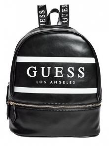 Guess Damski Plecak Marisoll Gym Logo Backpack Czarny