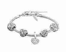 Bransoleta beads - zestaw - serca, nieskończoność