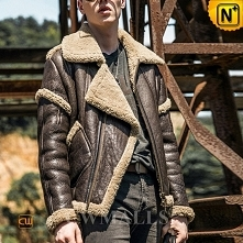 Men Leather Jacket & Leather Shoes | CWMALLS® Sydney Retro Sheepskin Flying Jacket CW808303 [Custom Made]