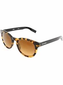 Męskie okulary przeciwsłoneczne w kolorze beżowo-czarno-brązowym