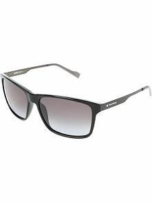 Męskie okulary przeciwsłoneczne w kolorze czarno-brązowym