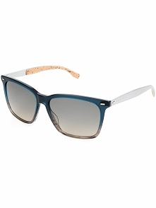 Męskie okulary przeciwsłoneczne w kolorze szaro-niebieskim