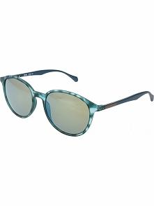 Męskie okulary przeciwsłoneczne w kolorze zielono-niebieskim