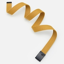 Pasek z metalową klamrą - Żółty