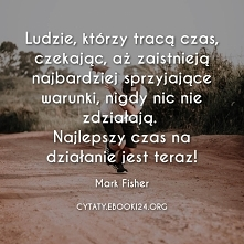 Mark Fisher cytat o czekani...