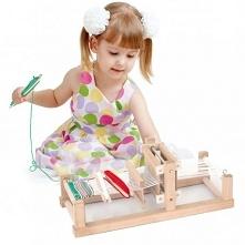 Drewniany Zestaw do tkania dla dzieci od 3 roku życia cenionego producenta za...