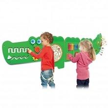 Krokodyl od firmy Viga, to tablica podzielona na 5 elementów – plansz. Każda ...