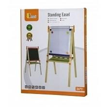 Dwuplanszowa tablica do rysowania firmy Viga Toys. Na jednej planszy można pisać kredą, a na drugiej mazakiem. Tablice są duże i wygodne, oraz umieszczone na stabilnym stelażu. ...