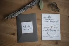 Zaproszenie ślubne z serii Grey I