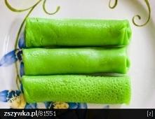 zielone-nalesniki-do-zwyklego-ciasta zmiksuj pietruszkę, bazylię, szczypiorek...
