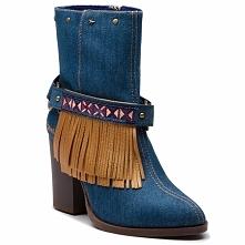 Botki DESIGUAL - Shoes Folk Exotic Denim 18WSTD02 5053