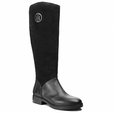 Oficerki TOMMY HILFIGER - Basic Th Riding Boot FW0FW03450  Black 990