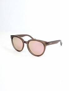 Damskie okulary przeciwsłoneczne w kolorze jasnoróżowo-brązowym