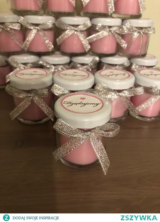 podziękowania dla gości mini świeczki