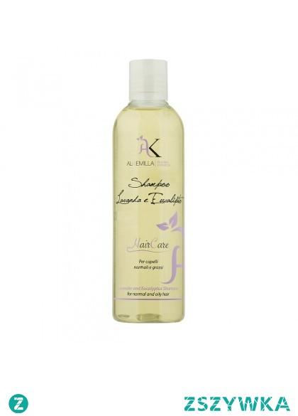 Naturalny szampon do włosów normalnych i przetłuszczających się 250ml - Alkemilla  Naturalny szampon do włosów z ekstraktami lawendy i eukaliptusa przeznaczony do mycia włosów normalnych i przetłuszczających się. Równoważy produkcję sebum i pomaga zwalczyć łupiesz i łojotokowe zapalenie skóry. Szampon posiada właściwości kojące, łagodzące i antyseptyczne. Zawarty w szamponie ekstrakt z eukaliptusa ma odświeżające działanie, zmiękcza włosy i nadaje blasku.