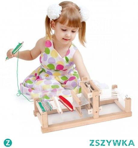 Drewniany Zestaw do tkania dla dzieci od 3 roku życia cenionego producenta zabawek drewnianych Viga wykonane z bezpiecznych ekologicznych materiałów pozwolą na kreatywną, ciekawą zabawę w domu i przedszkolu.