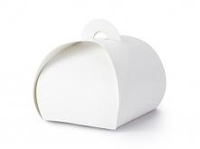 Prezenciki dla gości - białe pudełeczka