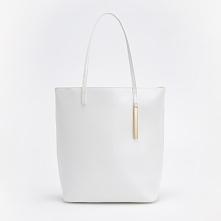 Biała torba typu hobo - Biały