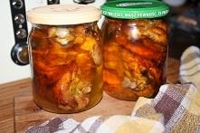 Pieczony kurczak w słoikach , kuchnia na wyjazdy