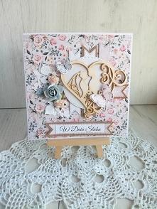Kartka ślubna 3D z Parą Młodą, na ślub GOTOWA
