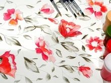 Namalowane kwiaty - wzory o...