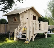 Domek dla dzieci z tarasem Płomyk