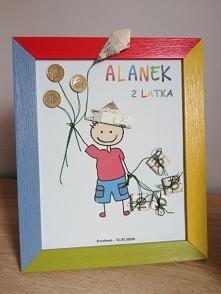 Z okazji 2 urodzin - pomysł na podarowanie pieniędzy.