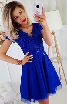 Sukienka z koronkową górą c...