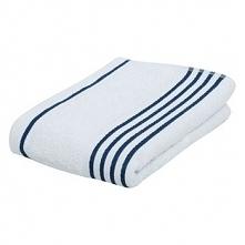Ręcznik Gözze Rio negatyw, 50 x 100cm, biały/granatowy, nr 141-51-4