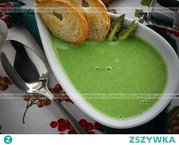 Krem z brokułów ze szpinakiem