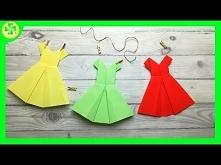 Jak zrobić Sukienkę Origami...