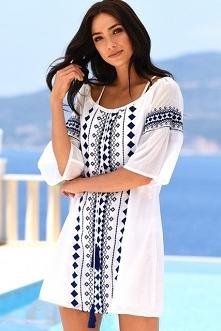 Sukienka plażowa Boho Print z noshame.pl (klik w zdjęcie, by przejść do sklepu)