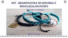 Jak zrobić biżuterię ze sznurkową regulacją długości w formie supełka? Instrukcje krok po kroku znajdziesz po KLIKnięciu w zdjęcie oraz na blogu Adzik-tworzy.pl