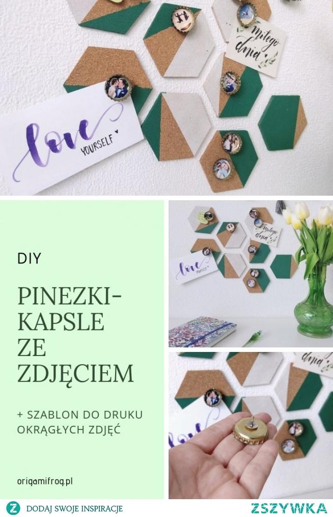 DIY Pinezki-kapsle ze zdjęciem • origamifrog.pl