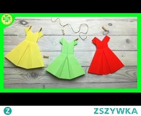 Jak zrobić Sukienkę Origami / How to make an Origami Dress