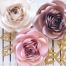 Kwiaty na ścianę, duże kwiaty na ścianę, kwiaty z papieru, papierowe kwiaty, ...