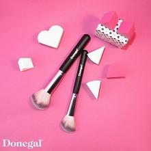 Pędzel do pudru, różu, bronzera i rozświetlacza LOVE PINK.  Love Pink by Donegal