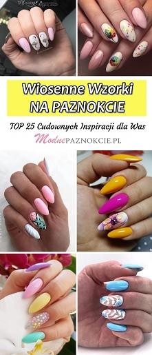 Wiosenne Wzorki na Paznokcie – TOP 25 Cudownych Propozycji na Modne Paznokcie