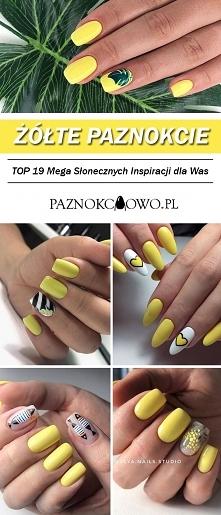 TOP 19 Mega Słonecznych Inspiracji na Żółte Paznokcie – Idealny Wybór na Sezo...