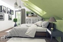 Mazurek II to projekt niedużego, nowoczesnego i wygodnego domu jednorodzinnego. Projekt został wykonany ze szczególnym uwzględnieniem walorów ekonomicznych... Widok sypialni na ...