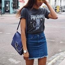 Wiosenne stylizacje z jeans...