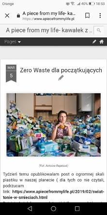 Wpis na blogu o zero waste,...