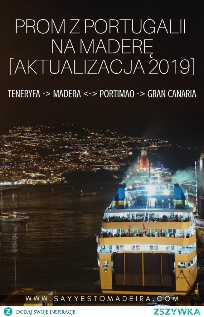 Prom z Portugalii na Maderę w sezonie 2019