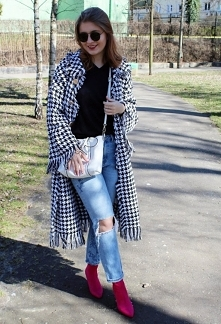 Płaszcz w pepitkę wiosną od SecretGar z 11 kwietnia - najlepsze stylizacje i ciuszki