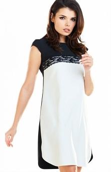 Awama dwukolorowa wizytowa sukienka A254