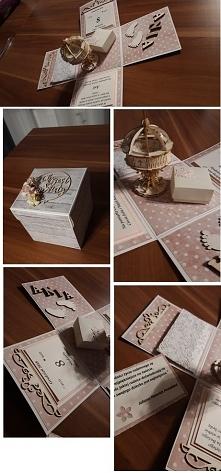 Box na chrzest z pudełeczki...