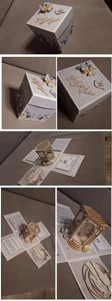 Box ślubny niebeiski